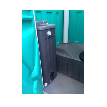 Larry's Latrines Single Standard Unit With Sink Interior